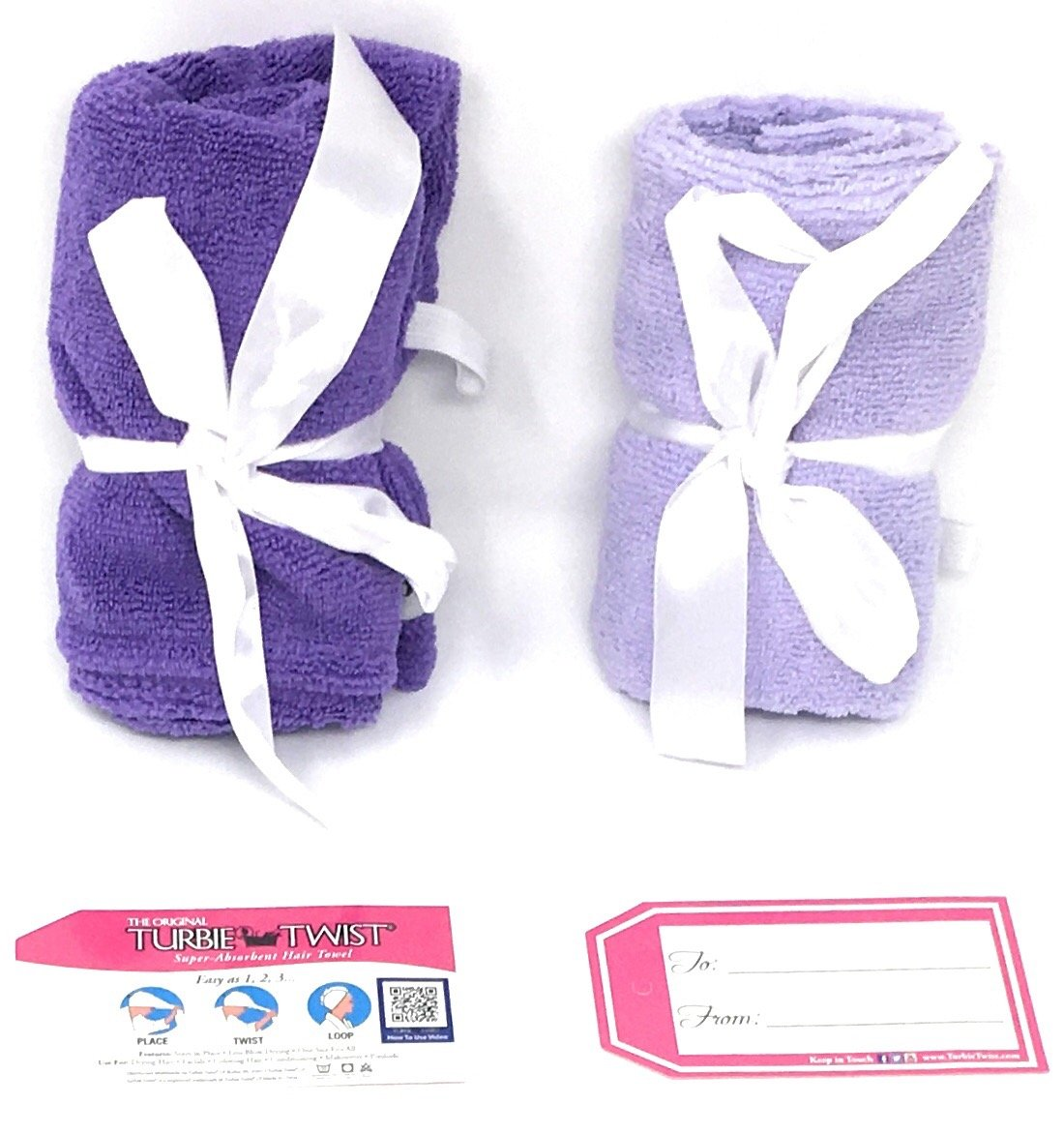 Turbie Twist 6 Pack Light and Dark Pink,Purple, Aqua Microfiber Hair towels by Turbie Twist (Image #7)