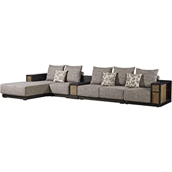 Attrayant Leyuan Furniture Solid Wood Sectional Sofa With Foam Rubber Cushion Corner  Combination Sofa Four Pieces