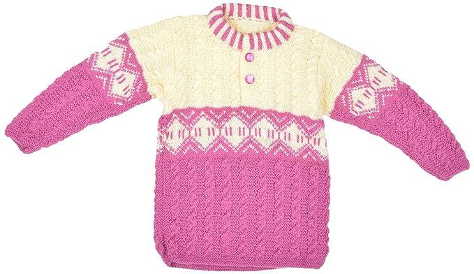 ff73a91b2 Kuchipoo Unisex Hand Knitted Woollen Sweater (KUC-SWT-605 Cream ...