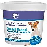 Essential Pet 27908 Small Breed Dog Alaska Wild Salmon Oil Soft Chews with Natural Omega-3 Fatty Acids, Brown