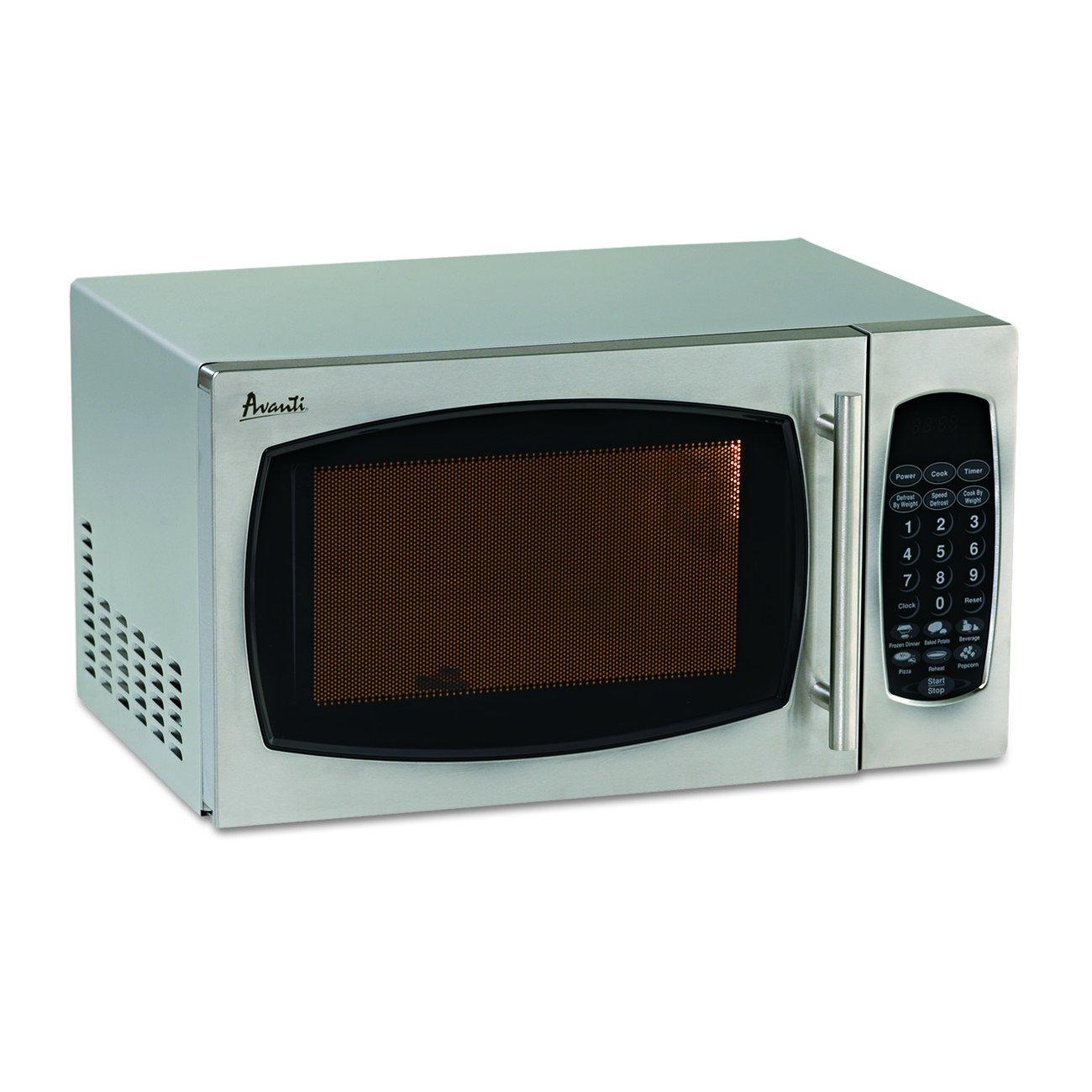 Amazon.com: Avanti AVAMO9003SST Microwave Oven, Stainless Steel ...