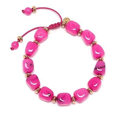Lola Rose Women Pink Quartz Strand Bracelet of Length 18cm 715898 BG9paYj