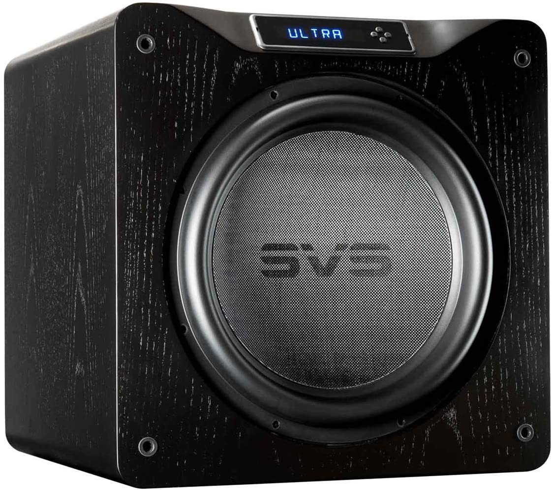 SVS SB16-Ultra Subwoofer Black Oak 16-inch Driver, 1,500-Watts RMS, DSP App Control, Sealed Cabinet