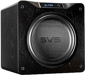 SVS SB16-Ultra Subwoofer (Black Oak) – 16-inch Driver, 1,500-Watts RMS, DSP App Control, Sealed Cabinet