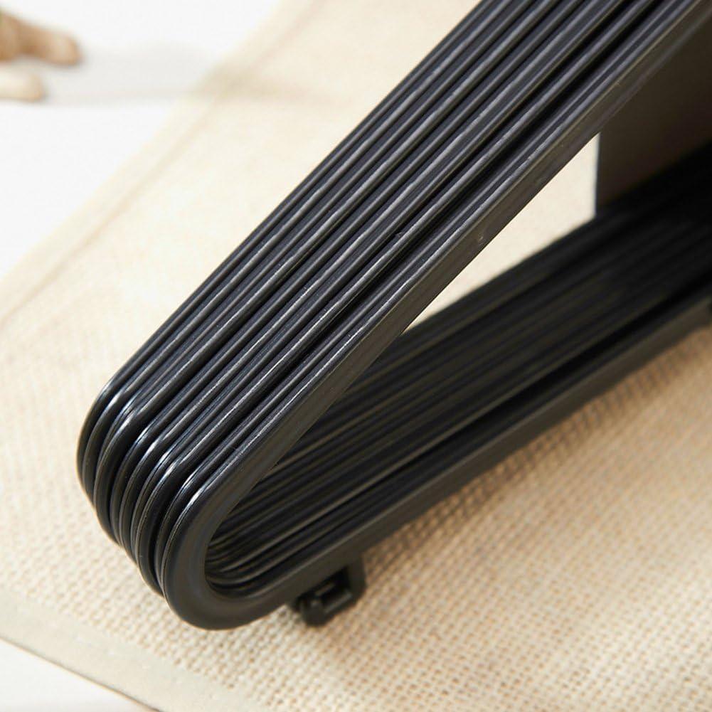 Hanshin Perchas pl/ástico Perchas para Ropa Percha con Barra para Pantalones y Labios 36cm 20cmNegro