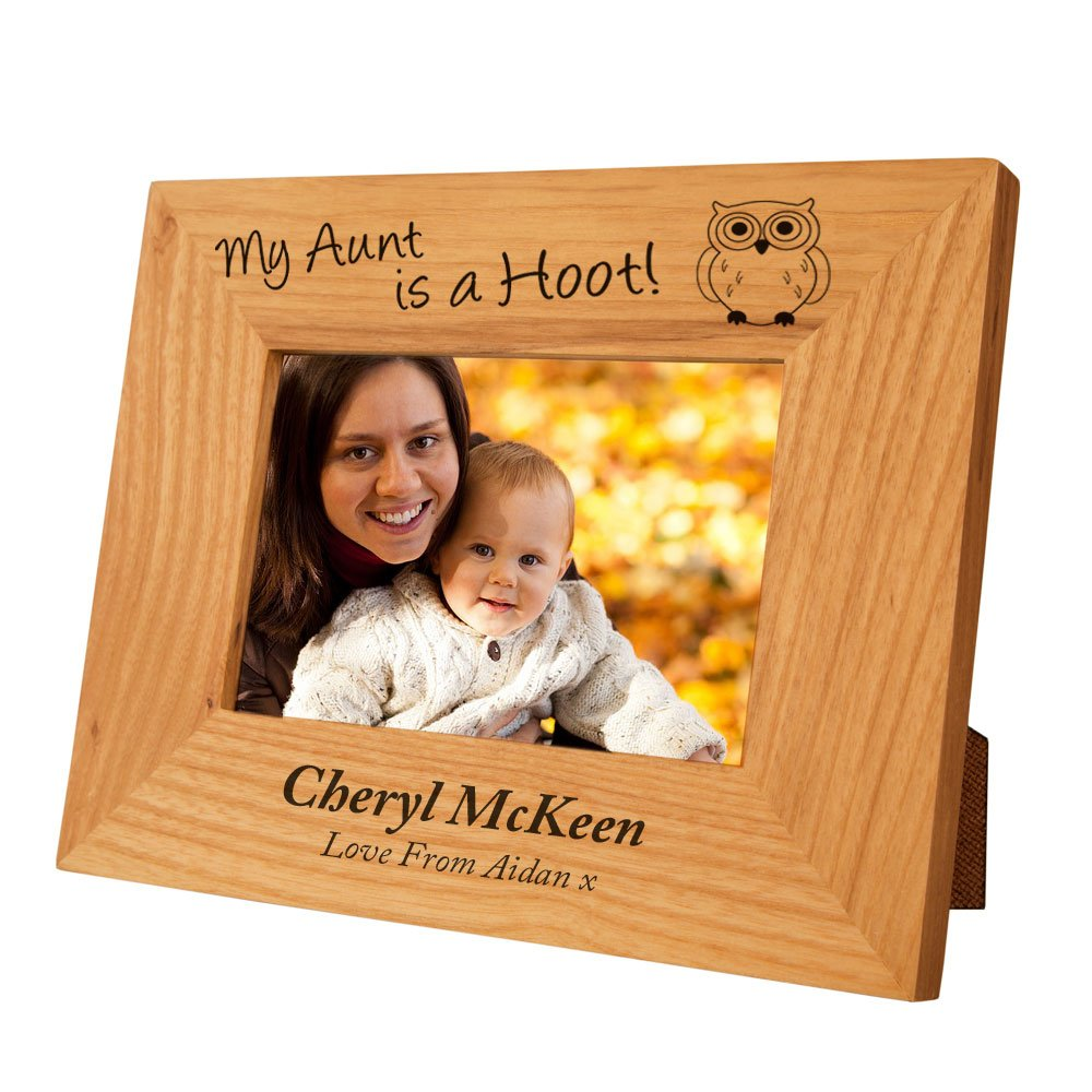 Personalised Aunt, Auntie, Aunty Oak Frame, Engraved Aunt, Auntie ...