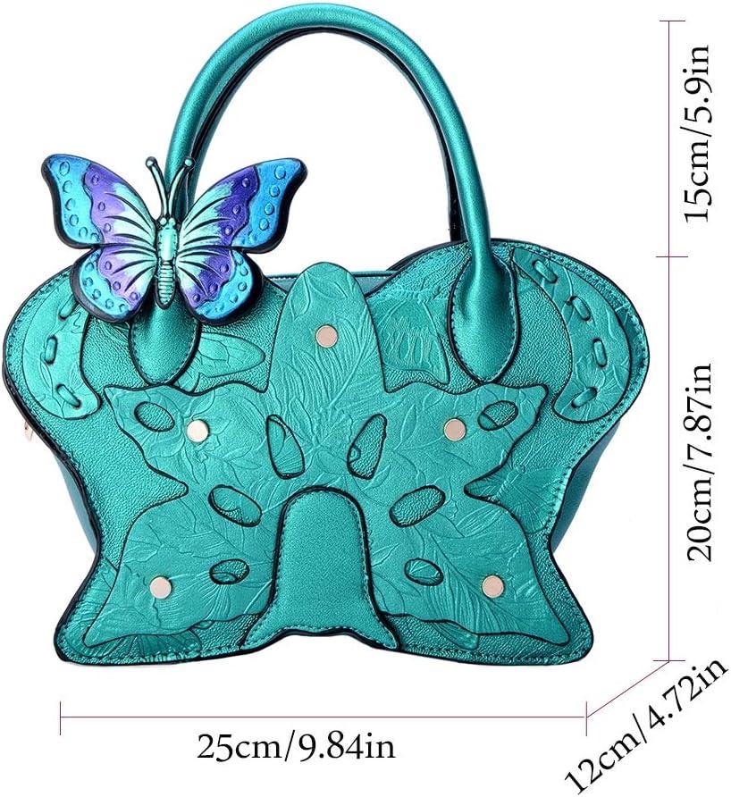 She Charm Handtasche für Frauen, chinesische Art Retro- PU-lederne Beutel-Handtaschen-Schulter-Beutel-Flügel-Beutel,Grün Green