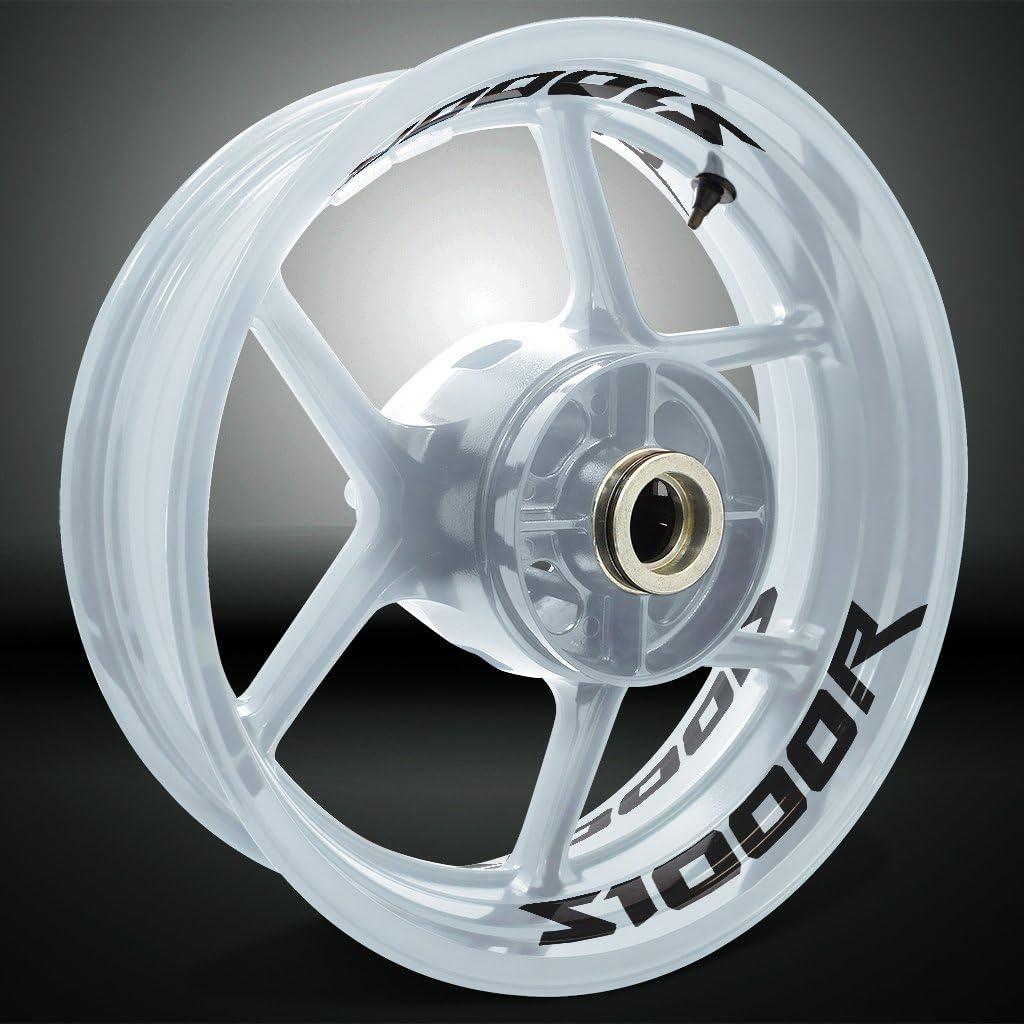 2 Tone Amethyst Motorrad Inner Rim Tape Decal Aufkleber f/ür BMW S1000R