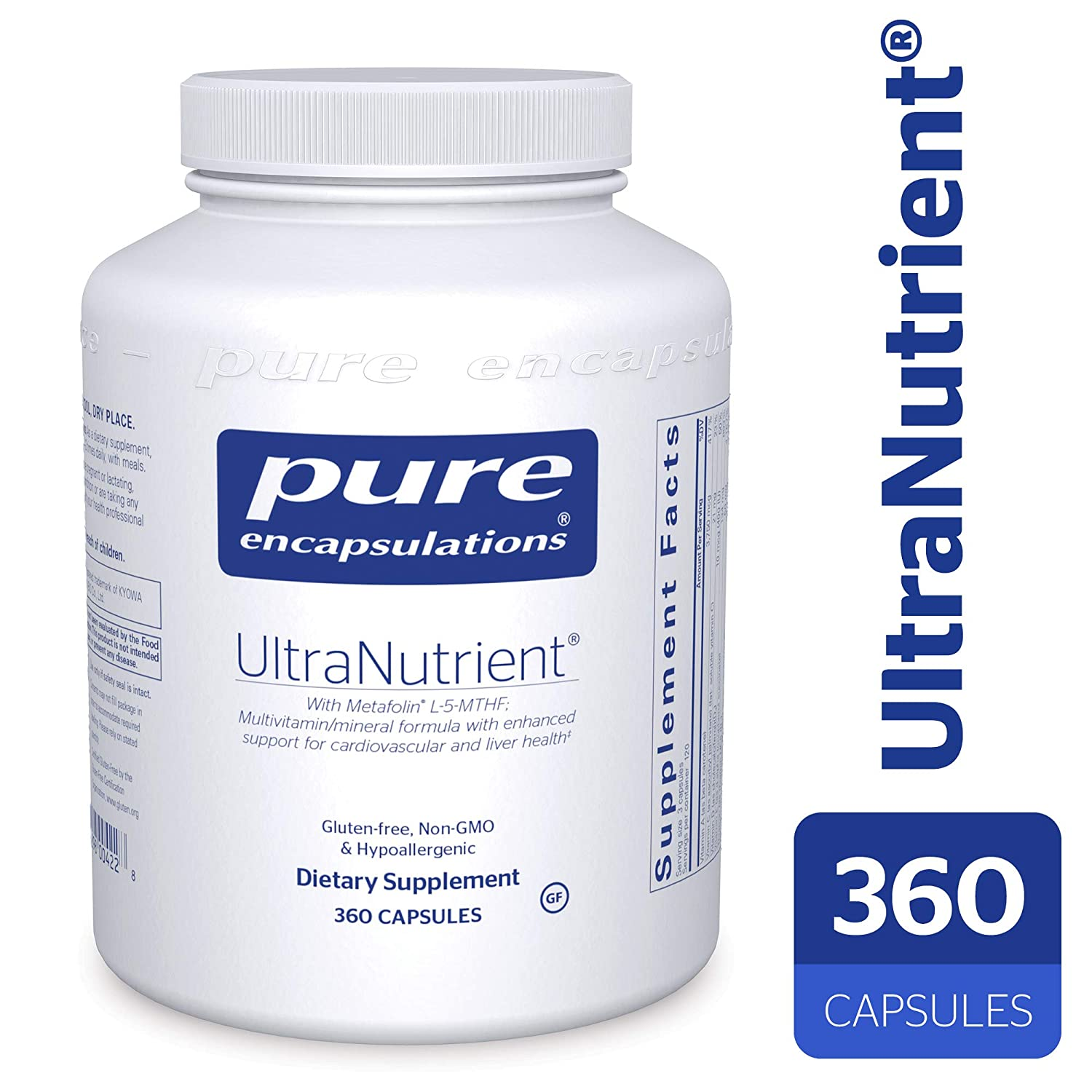 Pure Encapsulations – UltraNutrient – Hypoallergenic Multivitamin Mineral Complex with Advanced Antioxidants – 360 Capsules