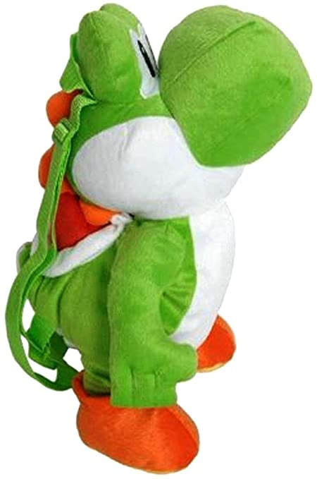 Super Mario Bros Brothers Yoshi Plush Backpack Stuffed Figure Toy Kids Boys Gift