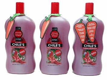 Amazon.com: 3 x natturalabs Chili – Romero Champú/Anticaida ...