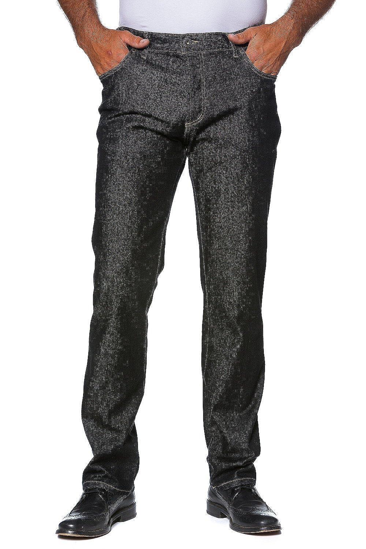 JP1880 Men's Big & Tall 5 Pocket Comfort Waist Jeans Black 70 702468 11-70