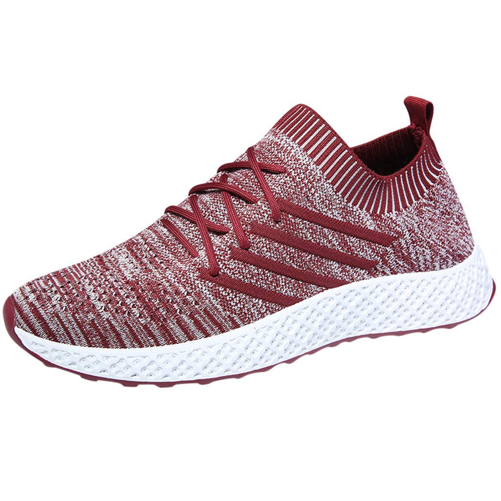 Men's Lifestyle Sneakers, Fashion Personality Lightweight Breathable Mesh Non-Slip Sport Gym Walking Running Shoes