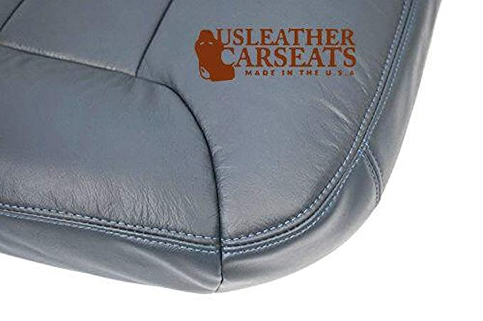 1995-1998 1999 Chevy Suburban Passenger Bottom Synthetic Leather Seat Cover Blue