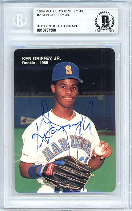 daba6bc5b2 Ken Griffey Jr. Autographed 1989 Mother's Cookies Rookie Card Autographed  #2 Seattle Mariners Autographed