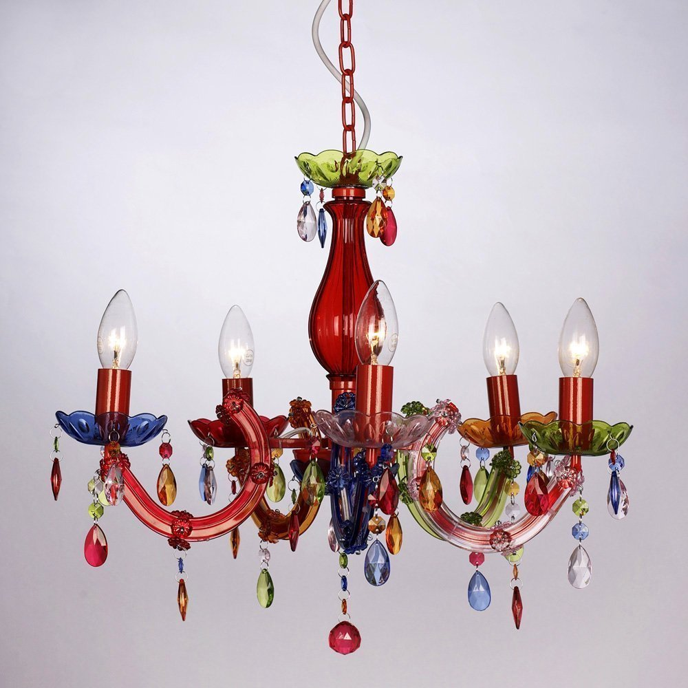 Modern gypsy multi coloured 5 way marie therese ceiling light modern gypsy multi coloured 5 way marie therese ceiling light chandelier amazon lighting mozeypictures Choice Image