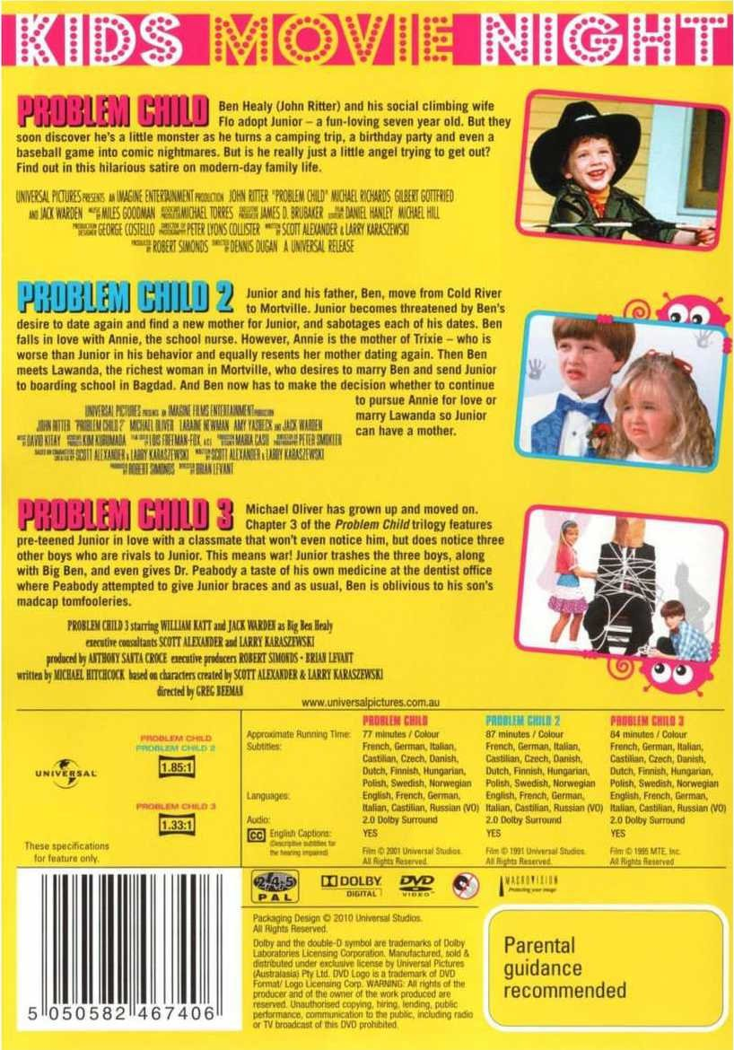 Problem Child Collection 1 3 Dvd Set Little Nightmare Reg 2 Two
