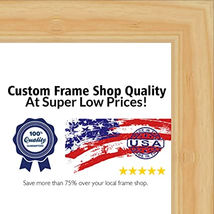 amazon com 3x4 natural wood picture frame uv acrylic foam board