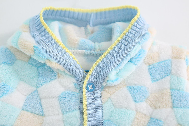 ZHUANNIAN Infant Baby Girls Fleece Jacket Cartoon Long Sleeve Cardigan Sweater