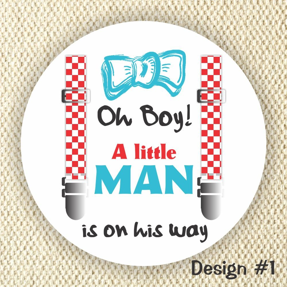 Amazon com a little man baby shower stickers baby shower favor stickers oh boy handmade