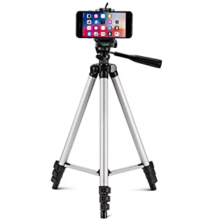 PROSmart Aluminium Adjustable Portable and Foldable Tripod Stand Mobile Clip and Camera Holder with Bag
