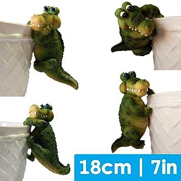Nain de jardin Crocodile Jardin Idée de cadeau - Lot de 4 cintres ...
