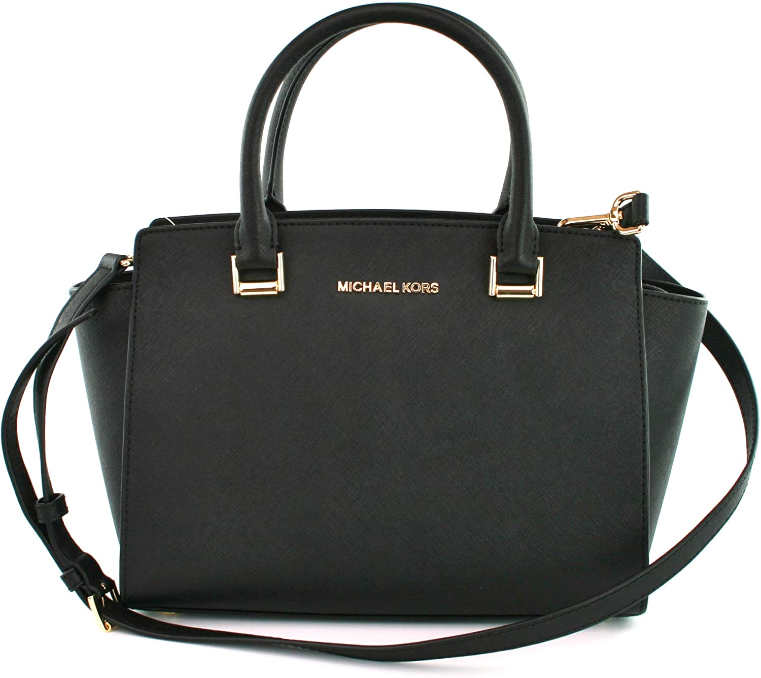 : Michael Kors Selma Black Saffiano Leather Medium