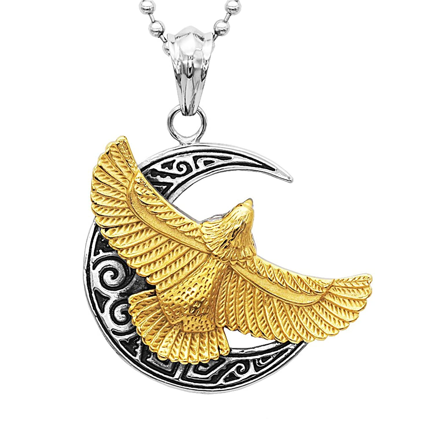 metallic s jewelry women lyst eagle king necklace silver studio in baby pendant