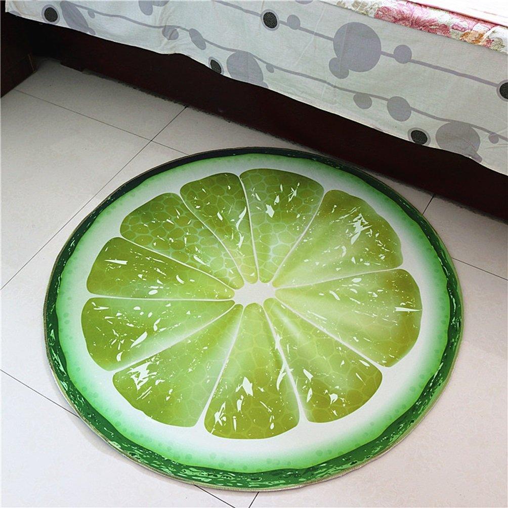 WAN SAN QIAN- Round Carpet Creative Fruit Rugs Basket Swivel Chair Carpet Mats Children Bedroom Carpet Home Economy Rug Rug ( Color : Green , Size : 160x160cm )