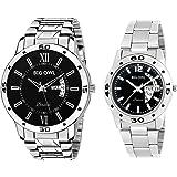 Bigowl Wrist Watch couple Combo For Men and Women MEN09-WOMEN06