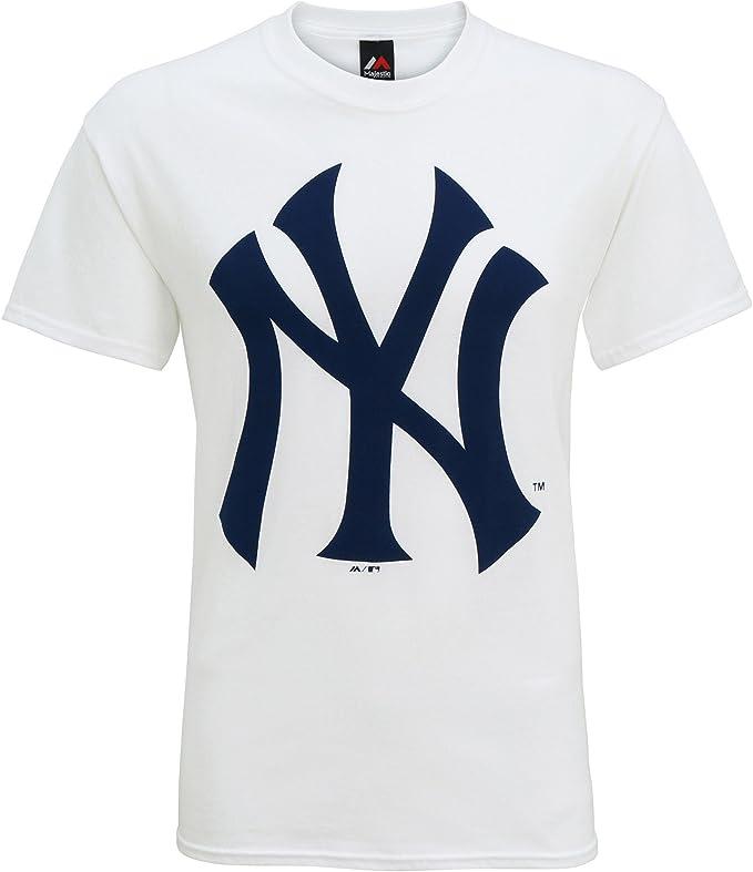 Producto Oficiales de Deportes Americanos - Camiseta de Manga Corta con el Logo New York Yankees Hombre Caballero