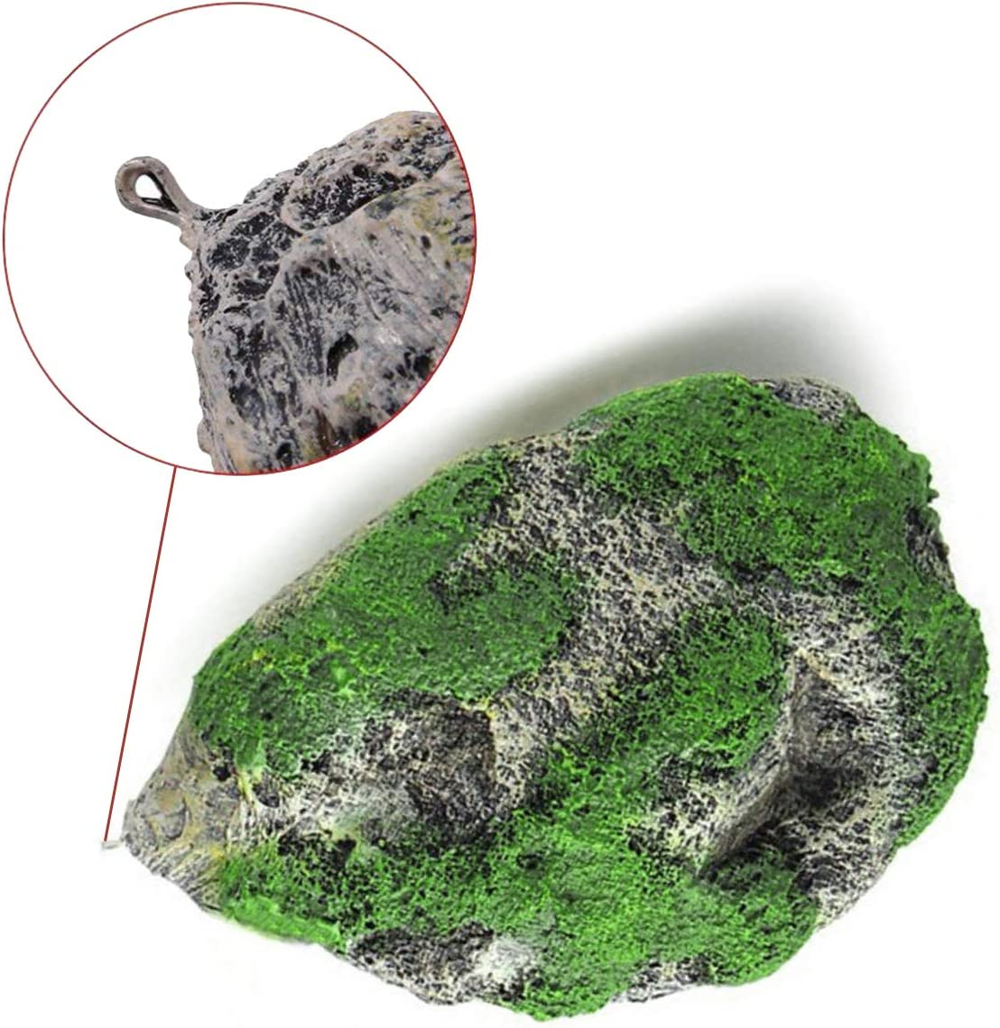 Artificial Moss Suspended Rock Fish Tank Decoration XMHF Aquarium Fish Tank Floating Rock Resin Stone with Suction Cup Floating Rock Ornament