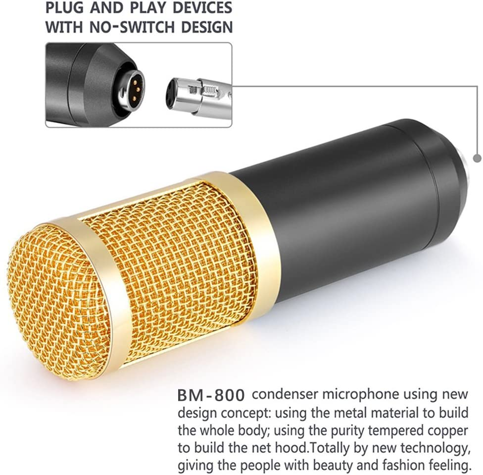 Professional Bm 800 Studio Condenser Microphone Kit For Broadcasting And Sound Recording Black Update Amazon Ca Musical Instruments Stage Studio