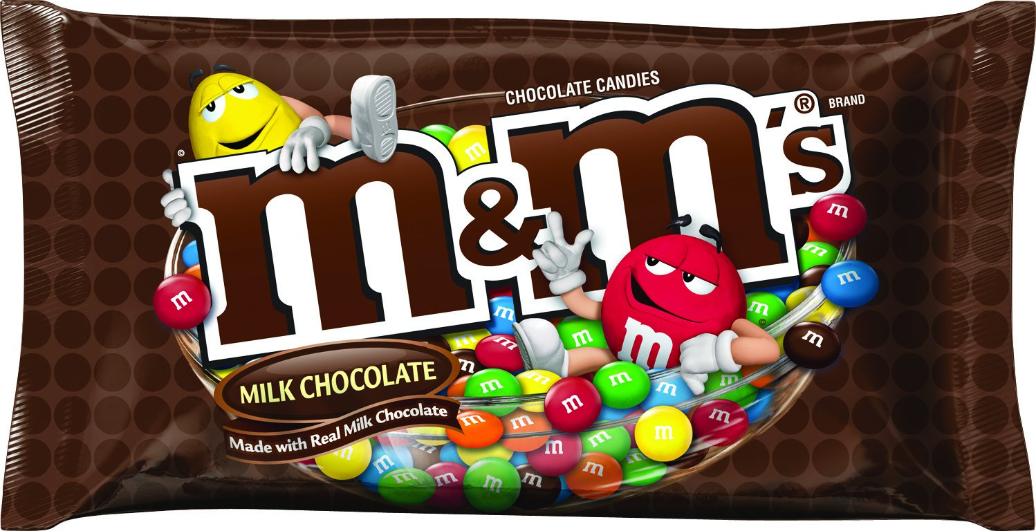 Amazon.com : M&M'S Milk Chocolate Candies, 12.6 Ounce Packages ...