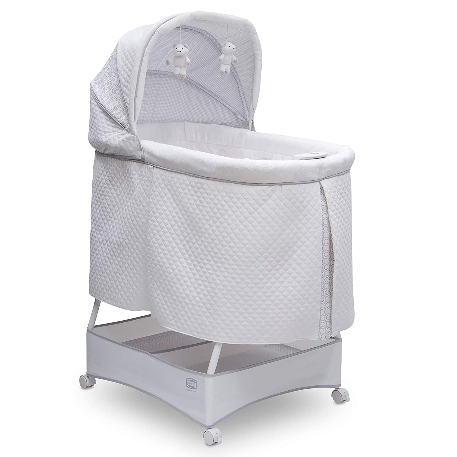 Simmons Kids Silent Auto Gliding Deluxe Bassinet Inner Circle