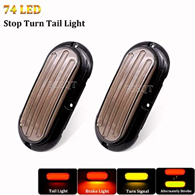 "PSEQT 6"" Oval Stop Turn Tail Lights Sequential Signal Trailer Tail Light Kit Emergency Warning Lamp for Boat Trailer RV Pickup SUV Van Trucks Red/Amber: Automotive"