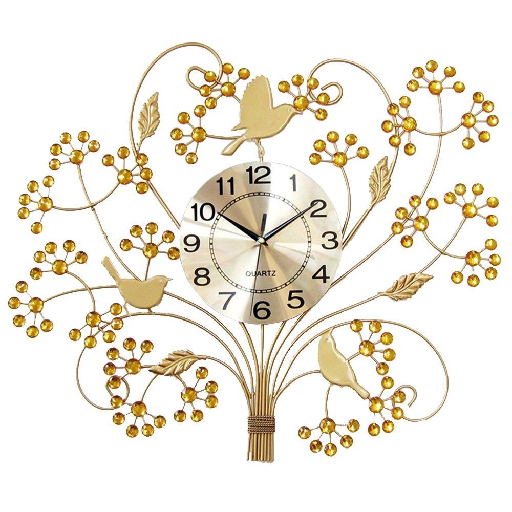 Farbe : Gold Moderne Stille Gro/ße Quarz Uhr Wanduhr Einfache Schlafzimmer Mit Wohnzimmer Uhr Flashing