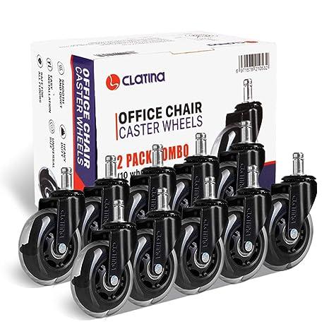 Amazon.com: Ruedas de repuesto para sillas de oficina de ...
