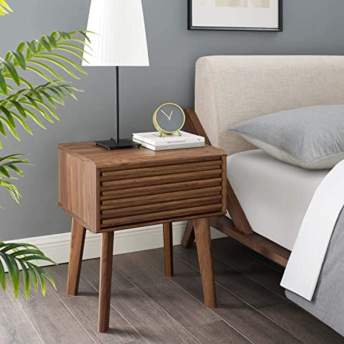 Modway Render Mid-Century Modern End Table or Nightstand
