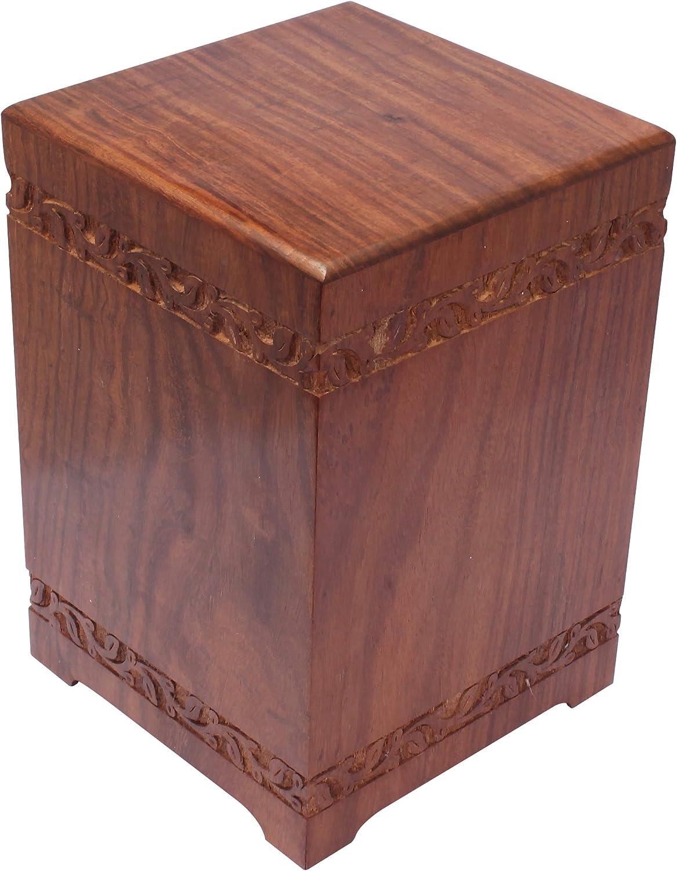 Extra duro de gran caja de madera Biodegradable cremación urna ...