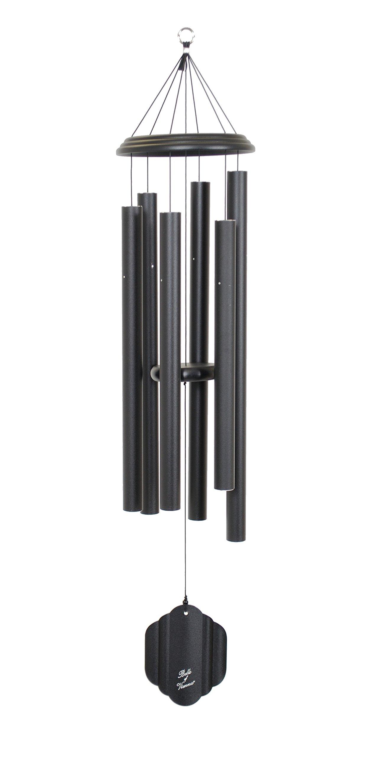 Bells of Vienna 50-inch Windchime, Black