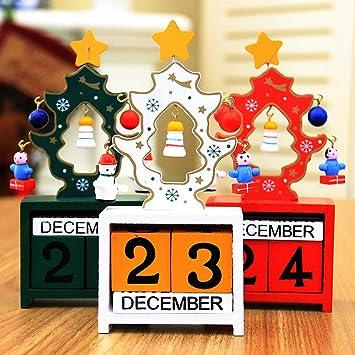 Weihnachten Datum.Amazon De Weihnachten Kreative Geschenke Holz Kalender Dekoration