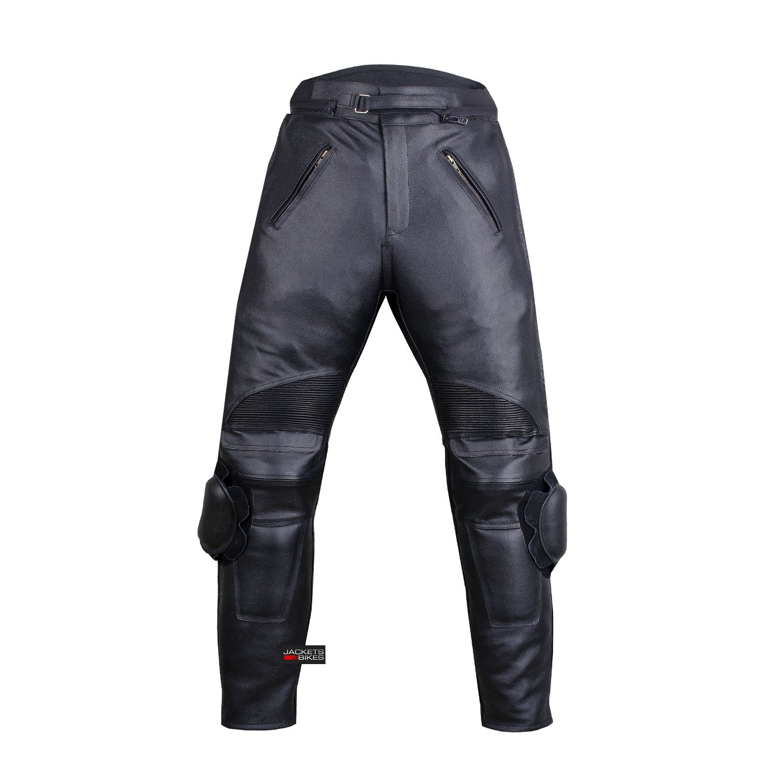 Men's Racing Motorcycle Leather Black Pants w/Sliders & 4PC CE Armor 36w 30i by Jackets 4 Bikes