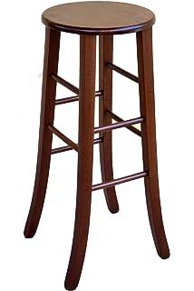 Sgabello Sedia in legno noce con seduta legno casa bar ristorante ...