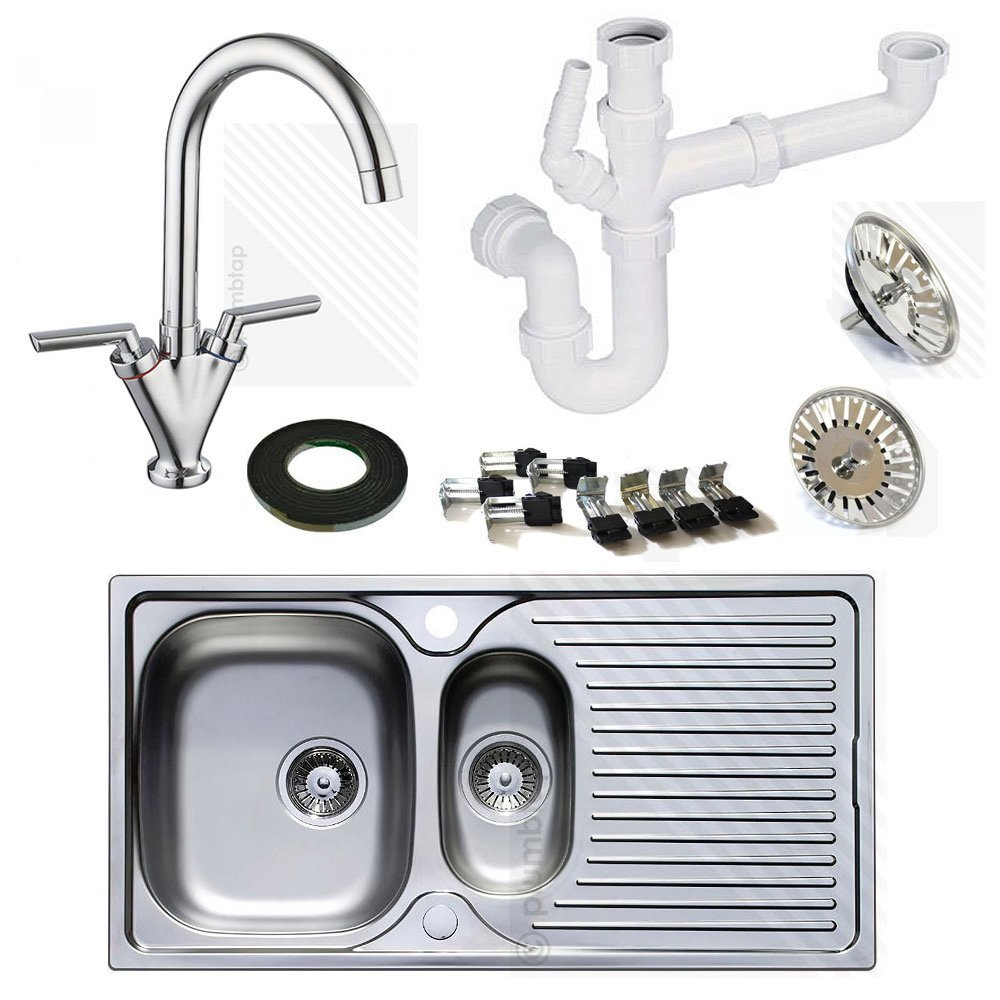 1.5 Bowl Kitchen Sink Astracast stainless steel kitchen sink 15 bowl with kitchen mixer astracast stainless steel kitchen sink 15 bowl with kitchen mixer tap includes free pipework worth 1999 amazon diy tools workwithnaturefo