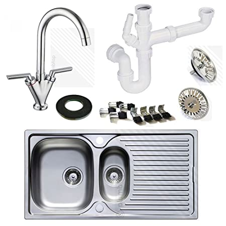 Astracast Stainless Steel Kitchen Sink 1.5 Bowl With Kitchen Mixer Tap |  Includes FREE Pipework Worth