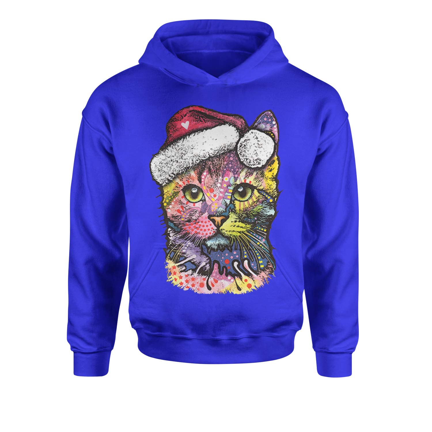 Expression Tees Neon Christmas Cat Youth-Sized Hoodie