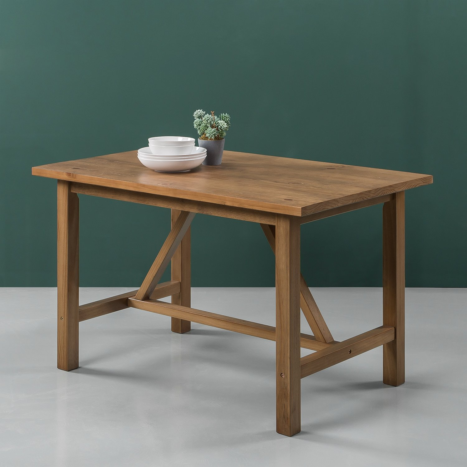 Zinus Brandon Detailed Dining Table in Natural Finish by Zinus (Image #4)