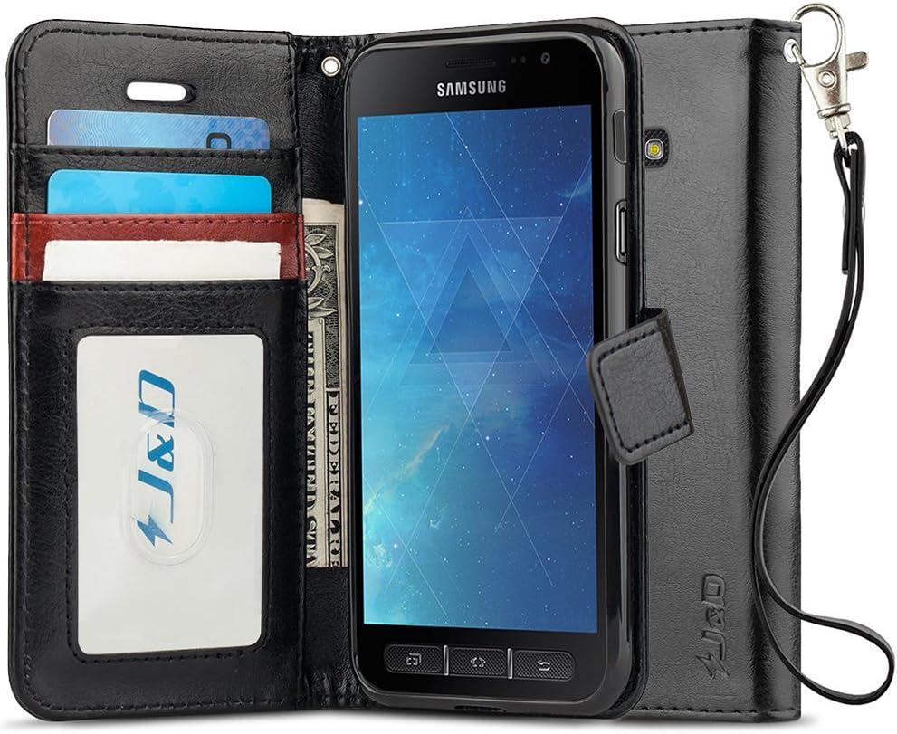 J D Kompatibel Für Galaxy Xcover 4 Leder Hülle Elektronik