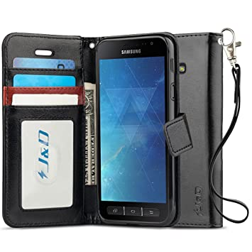 premium selection f4d2a 7fb5d J&D Case Compatible for Galaxy Xcover 4 Case, [Wallet Stand] [Slim Fit]  Heavy Duty Protective Shock Resistant Flip Cover Wallet Case for Samsung ...